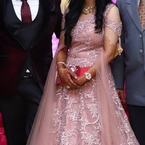 Onion pink Reception gown